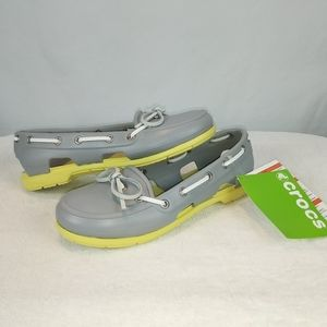 Crocs Gray and Yellow Women's size 5 shoes